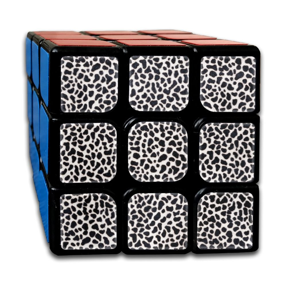 AVABAODAN Leopard Print Rubik's Cube 3D Printed 3x3x3 Magic Square Puzzles Game Portable Toys-Anti Stress For Anti-anxiety Adults Kids