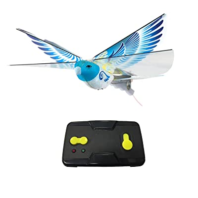 MukikiM eBird Blue Pigeon - 2016 Creative Child Preferred Choice Award Winning Flying RC Toy - Remote Control Bionic Bird (Newest 2.4GHz Version Featuring USB Charging): Toys & Games