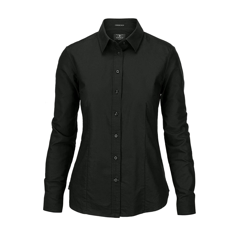 (ニンバス) Nimbus レディース ローチェスター 長袖オックスフォードシャツ ワイシャツ フォーマル トップス 女性用 B079C9T3BD M ブラック ブラック M