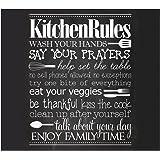 Zeller 26310 Kitchen Rules Crédence feux Verre Noir 56 x 50 x 1,5 cm