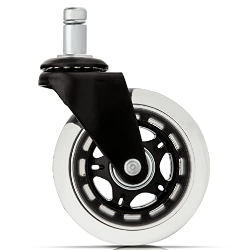 Office Chair Caster Wheels Replacement (Set Of 5)   Heavy Duty U0026 Safe For