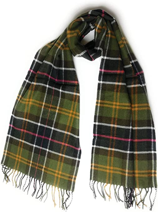 Sciarpa tartan in lana fine