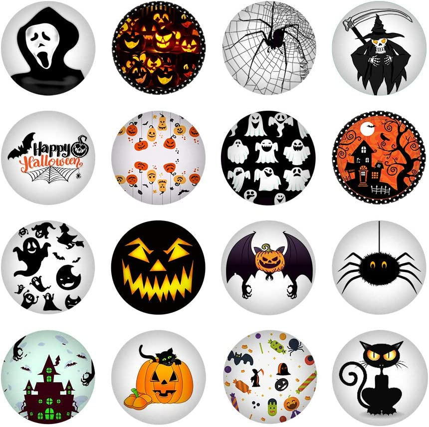 HSJH 16PCS Fridge Magnet Creative Assorted Lovely Refrigerator for Halloween Letter Crystal Glass Office Cabinets Whiteboards Photos Beautiful Decorative Home School (Funny)