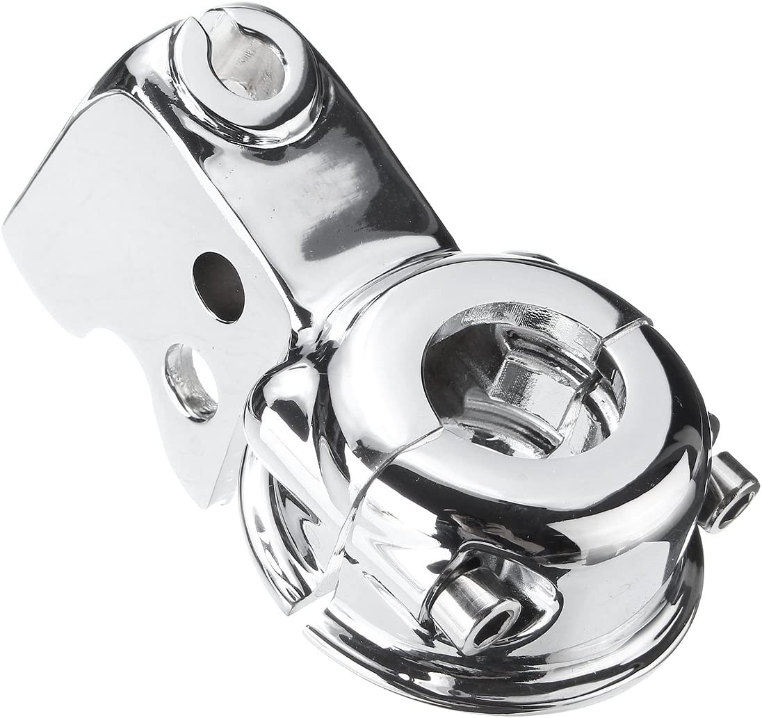 YONGYAO Levier dembrayage Support De Perche pour Harley Touring Glide Softail Dyna Sportster 883-Argent