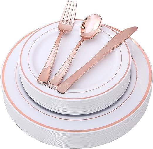 Heavy Duty Desechables De Plástico Transparente Cucharas Cuchillos Tenedor Cubiertos Set 50 100 Partido