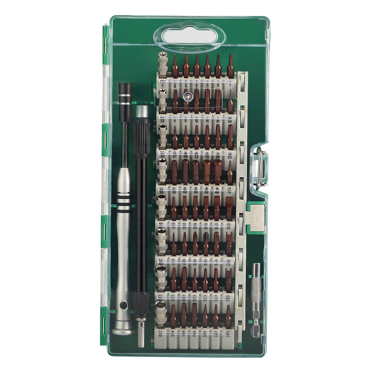 MECO 60 en 1 Destornilladores de Precisión Kit de Destornillador Completo Herramienta Reparación para Tablet PC, Ordenadores Portátiles, ...