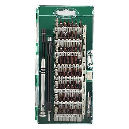 MECO 60 en 1 Destornilladores de Precisión Kit de Destornillador Completo Herramienta Reparación para Tablet PC