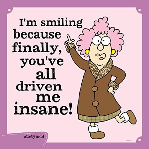 Tree-Free Greetings 60770 Hilarious Aunty Acid Premium Square ECOMagnet Shine 3.5 by 3.5-Inch
