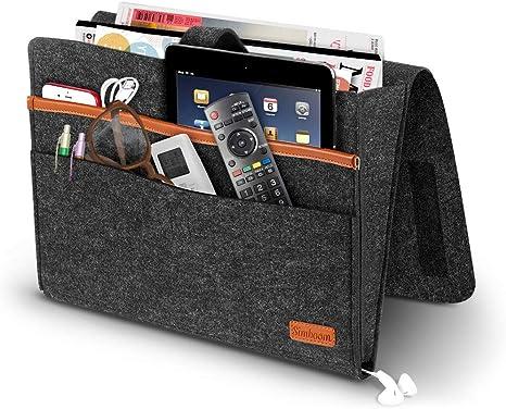 Sofa Bedside Storage Caddy Hanging Bag Felt Pocket Organizer Book Holder Home T