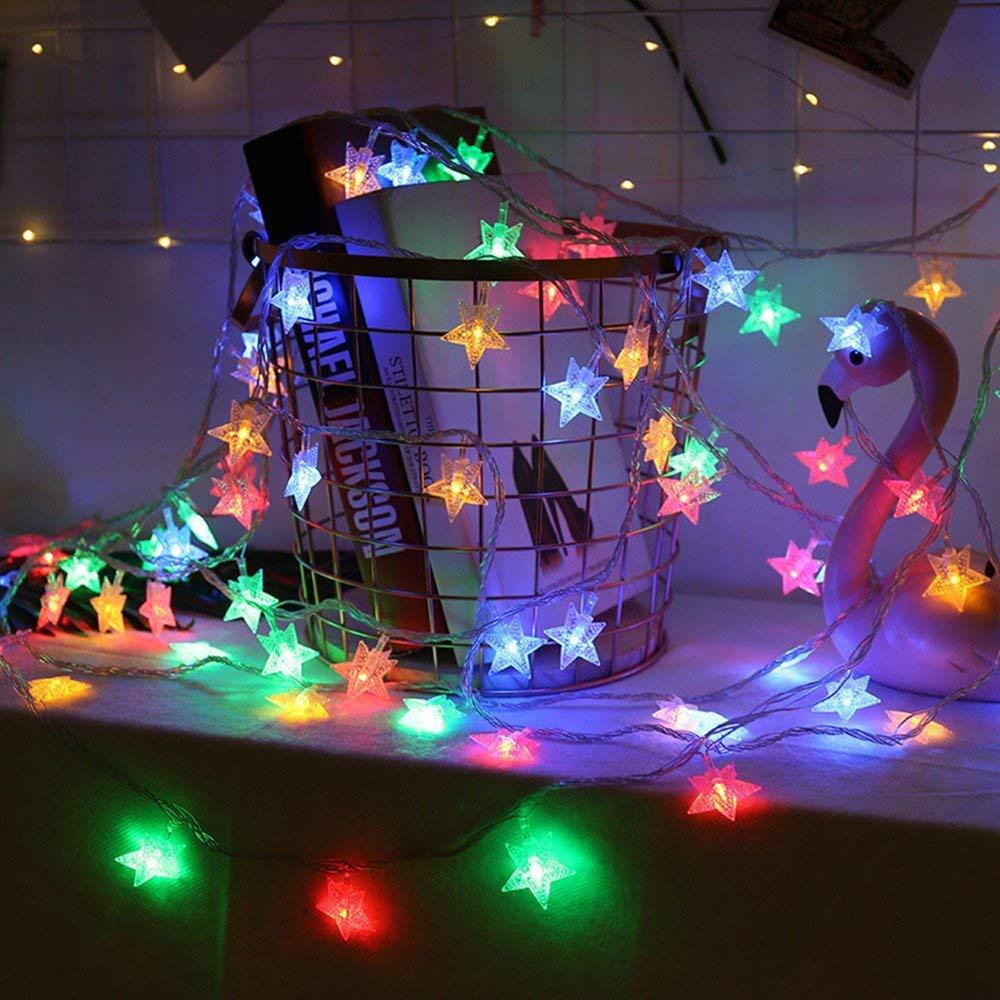 RaajaOutlets 20 LED Star Shaped String Light Jhalar Itemshome