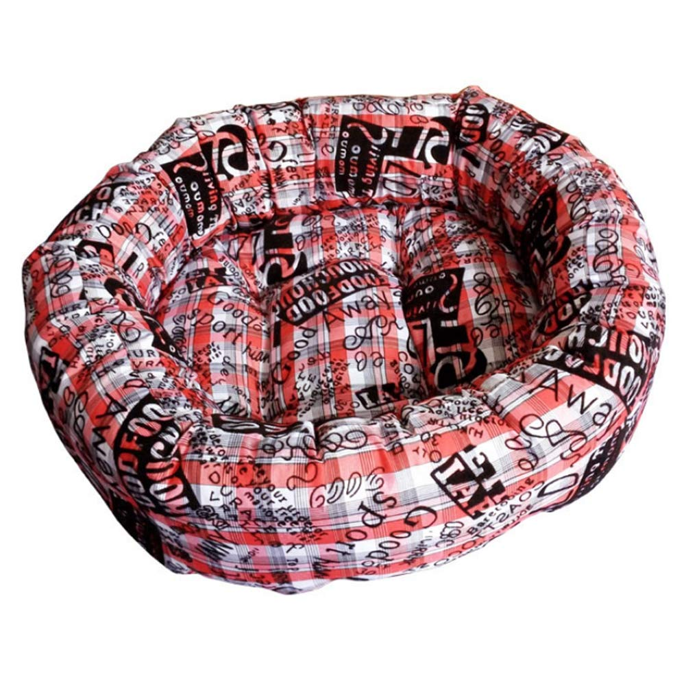 Red Small Red Small Pet bed cotton warm kennel round pet nest super warm super soft dog cat litter,Red,S