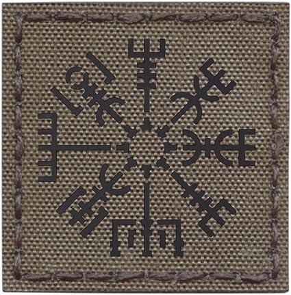 LEGEEON Multicam Valknut Viking Norse Runic Heathen Pagan Odin God Rune Morale Tactical Fastener Patch