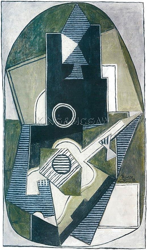 Pablo Picasso de arte, lHomme a la guitarra, 1918: Amazon.es: Hogar