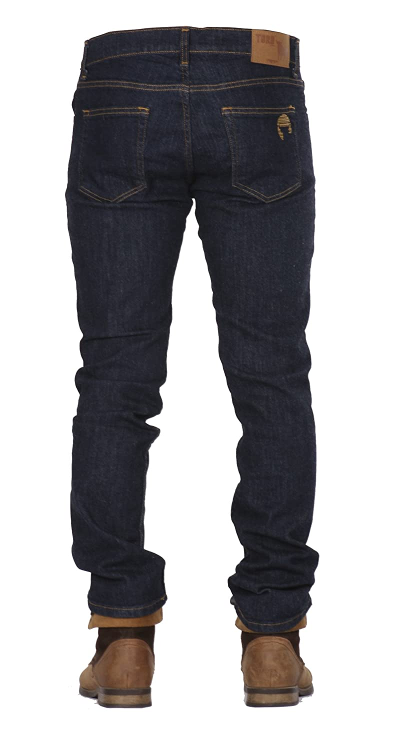 Buy Toro Jeans 1416 Mens Slim Fit Dark Wash Jeans Fashion Soft Fabric Washed Out Blue Pantalones De Caballeros Hombres At Amazon In