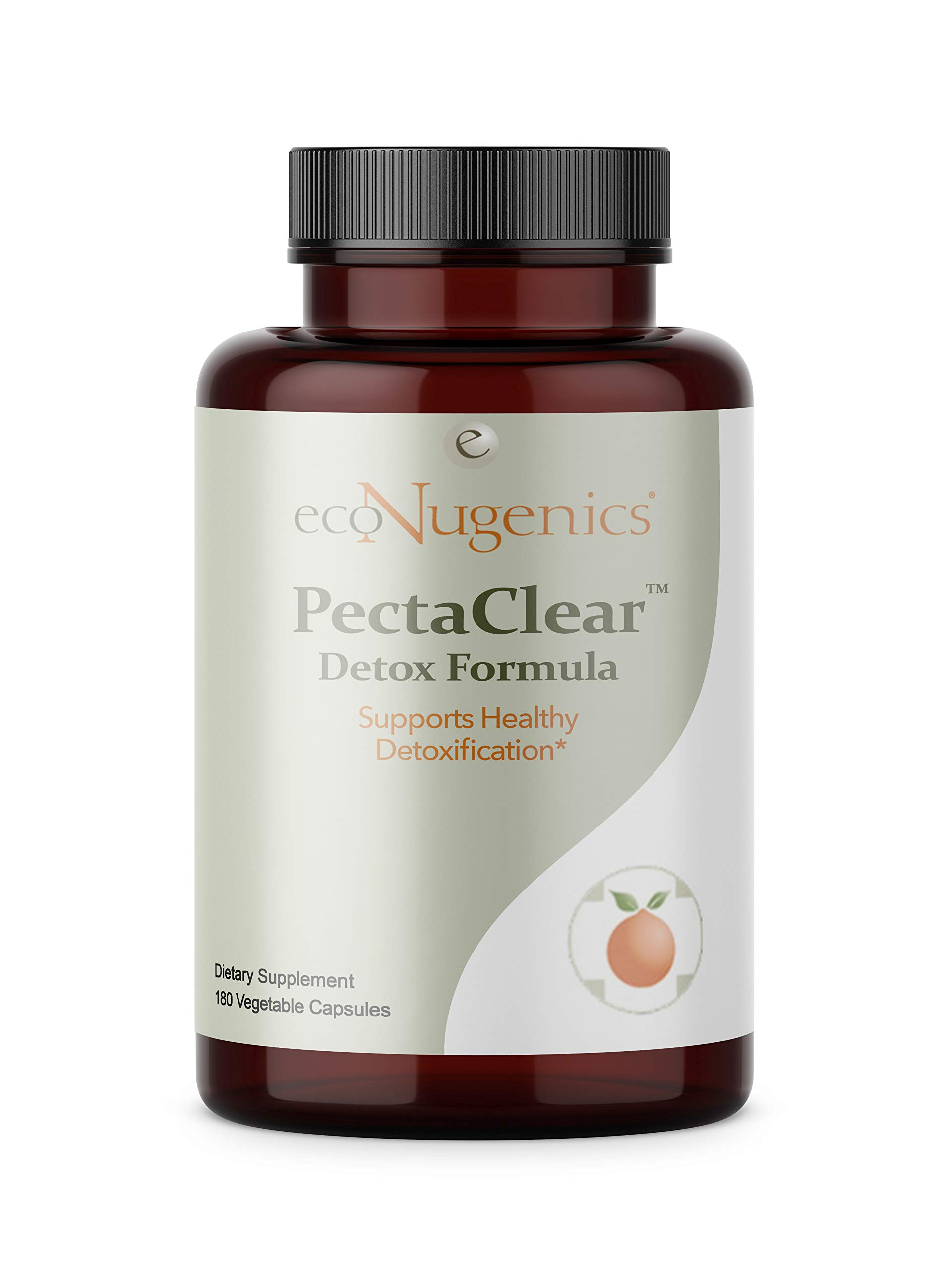 ecoNugenics - PectaClear - 180 Capsules | Professionally Formulated to Support Healthy Detoxification| Provides Comprehensive Support Against Environmental Toxins | Safe, Gentle & Effective