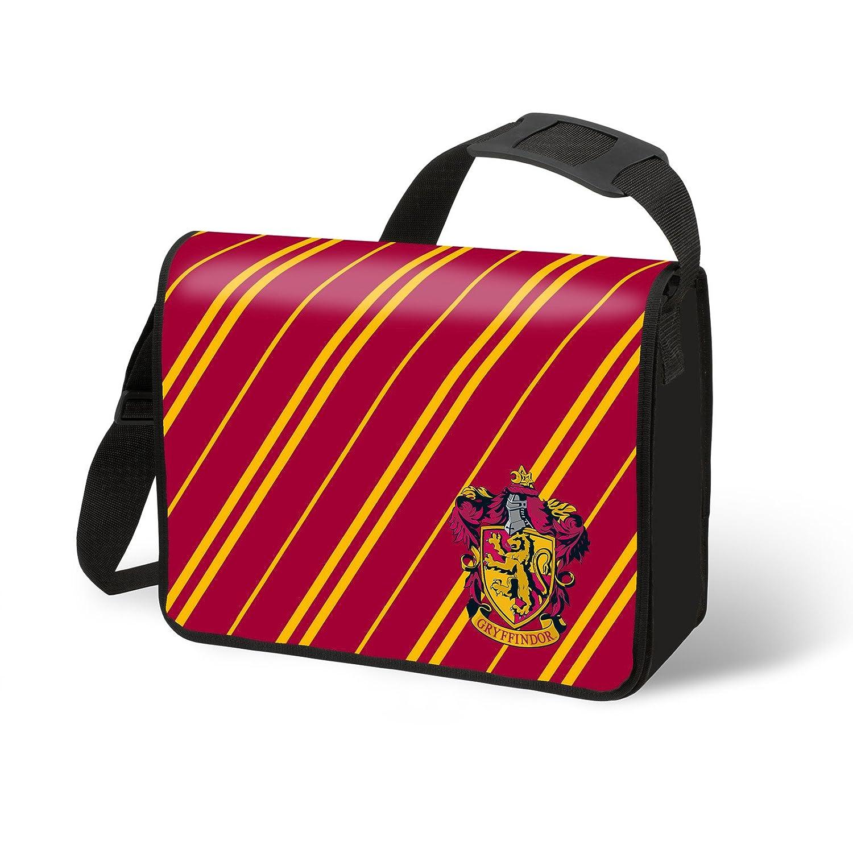 Harry Potter - Bolso mensajero - Logo Gryffindor - Lona 38 x 29 x 11 cm Elbenwald