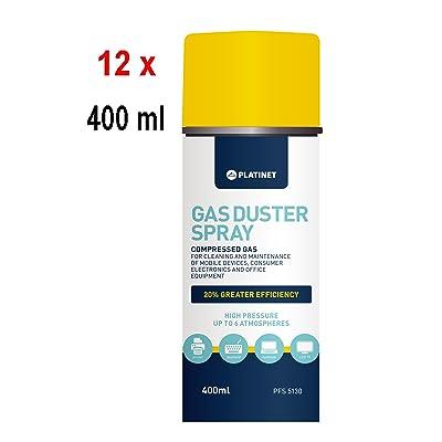 12x PLATINET pression de l'air Spray–400ml