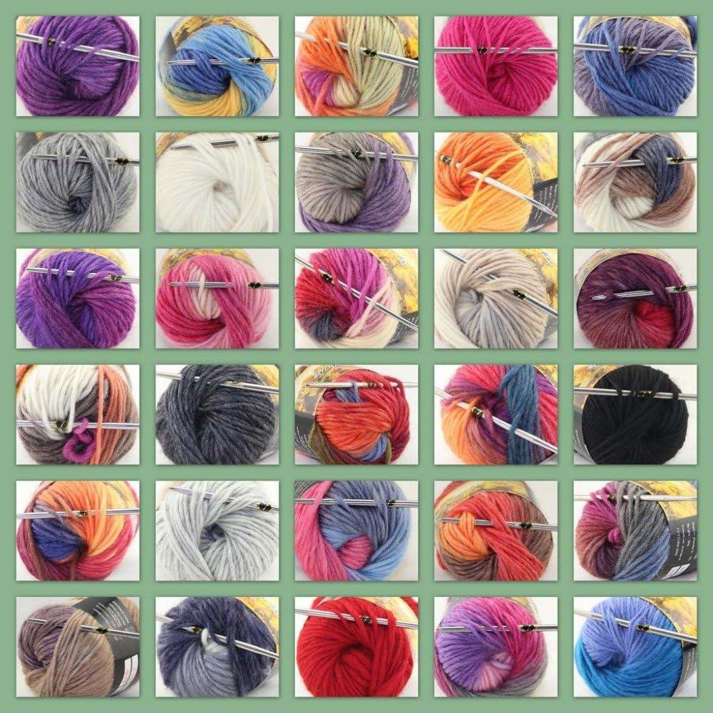Lote De 3x50gr Madejas Nuevo Grueso Tejido A Mano Colores Knitting puntuaciones hilados de lana 822