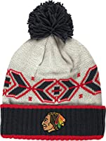 Chicago Blackhawks Men's CCM Classic Multi Team Cuffed Knit Hat with Pom