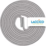 LACCICO Finest Waxed Laces® Thin Elegant Round Waxed Shoelaces Diameter 2 mm    All Colours   Length 45 cm - 180 cm