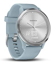 Garmin vivomove HR Hybrid Smart Watch (Small/Medium) - Silver with Seafoam Band