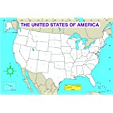Amazon blank world map pad wall maps office products carson dellosa us map chart 3091 gumiabroncs Image collections