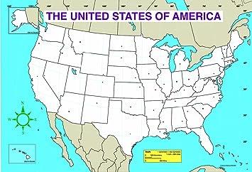 Carson Dellosa US Map Chart (3091)