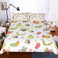 YYHQHE 3D Print Bedding Set Animal Dolphin Turtle Crab Seahorse Starfish Jellyfish Shark Octopus Duvet Cover Set Single Twin Queen King Size Home Textile