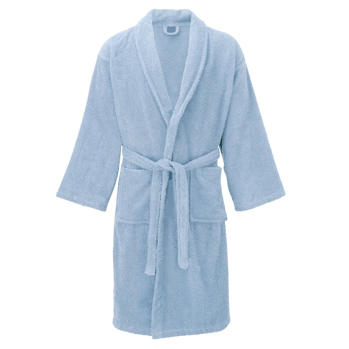 DNM & CO Luxury Cotton Toweling Bathrobe Dressing Gown Belted Waist Unisex Mens Womens One Size
