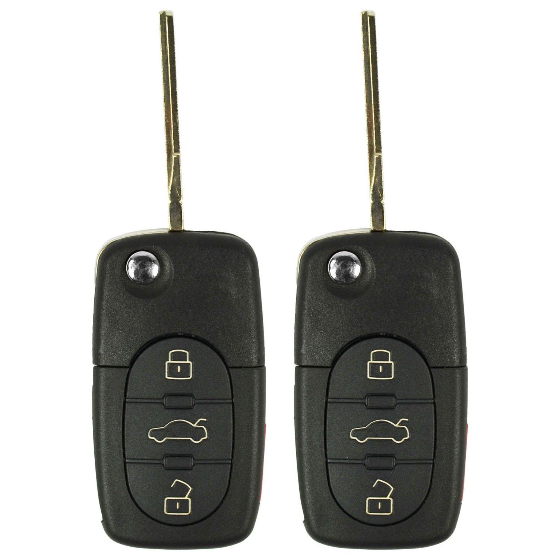 4D0837231E 4 Button Flip Key FREE KEYTAG LYSB00ZDYWUUG-ELECTRNCS 2 QualityKeylessPlus Replacement Keyless Entry Remote For FCC ID