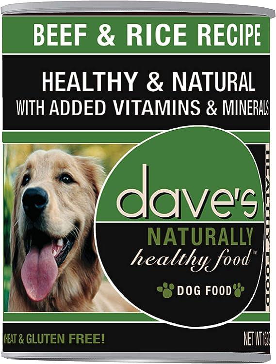 DaveS Comida para mascotas de carne y arroz (12 latas por estuche), 34 ml: Amazon.es: Productos para mascotas