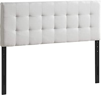 Poly and Bark EM-297-IVY Guilia Square-Stitched Headboard, Queen Size, Ivory