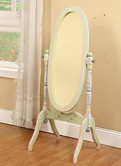 Espejo de madera de cuerpo entero Crackled Rose de Fantasy Fields W-6308A: Amazon.es: Bebé