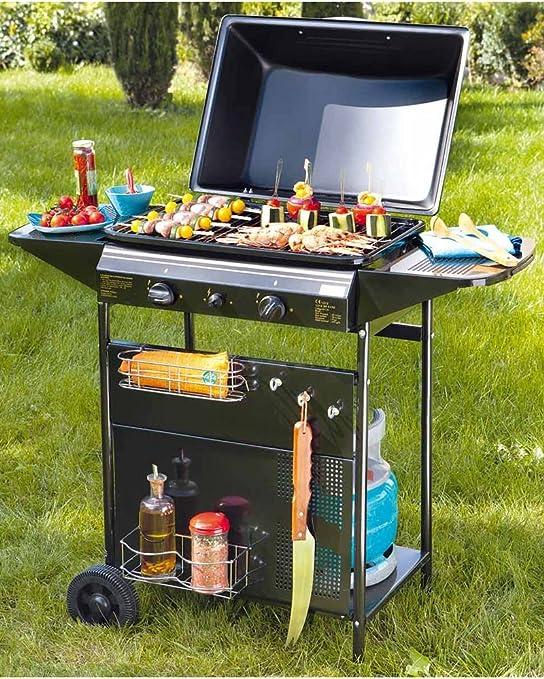 Barbecue gaz CUISINE EXTERIEURE 3 BRULEURS + 2 DESSERTES