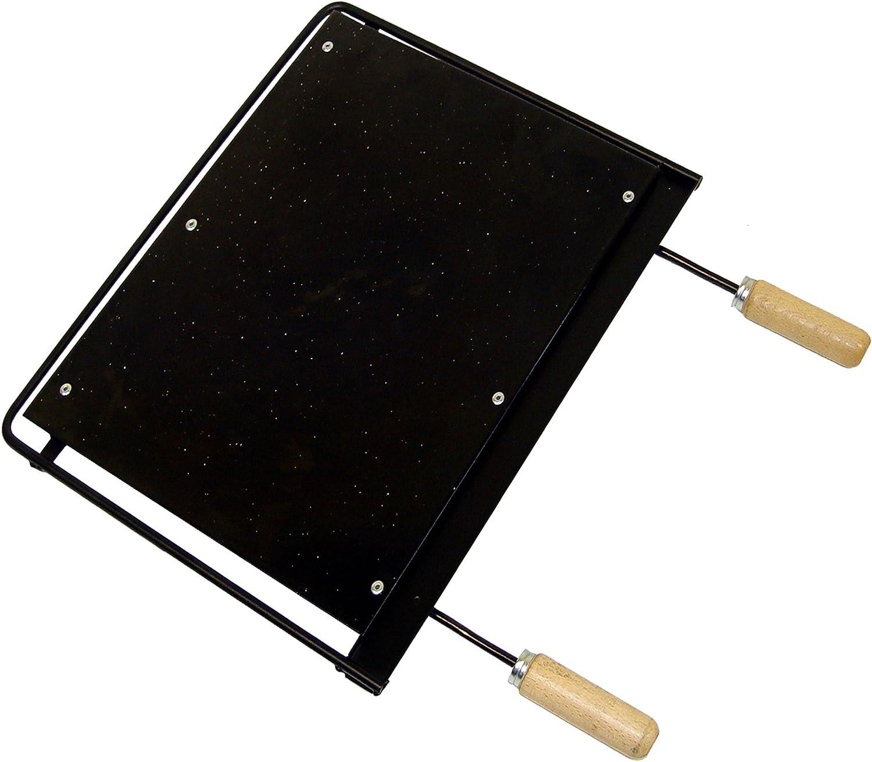 IMEX EL ZORRO Plancha ESMALTADA 43,5X41 CMS 71685-Plancha, 5 x 41 cm, Negro, 41x43,5x2,7 cm