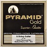 Pyramid Gold Flatwound Medium / Heavy Electric Guitar Strings 12-52