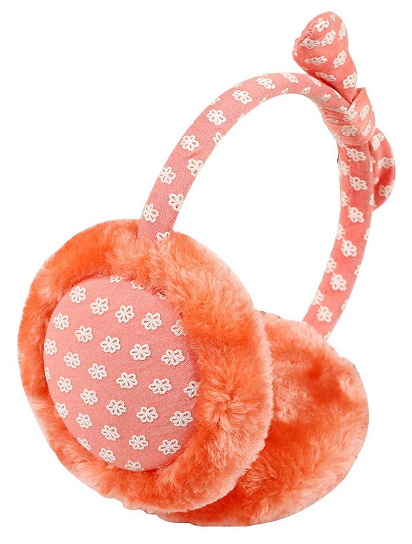 La Vogue Little Girls' Winter warm Plush fluffy Ski Ear muff Bowknot Headband