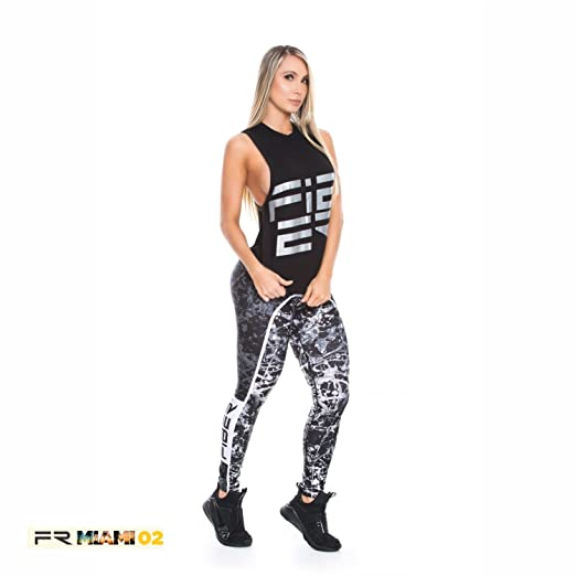 3919949e9695a Image Unavailable. Image not available for. Color: Fiber Activewear  Leggings Womens Gym Workout Tights Pants Colombian Black