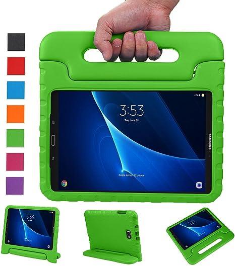 BelleStyle Funda para Samsung Galaxy Tab A 10.1 2016, A Prueba de Choques Ligero Estuche Protector Manija Caso Forró con Soporte para Niños para Galaxy Tab A 10.1 Pulgadas SM-T580/T585 (Verde): Amazon.es: