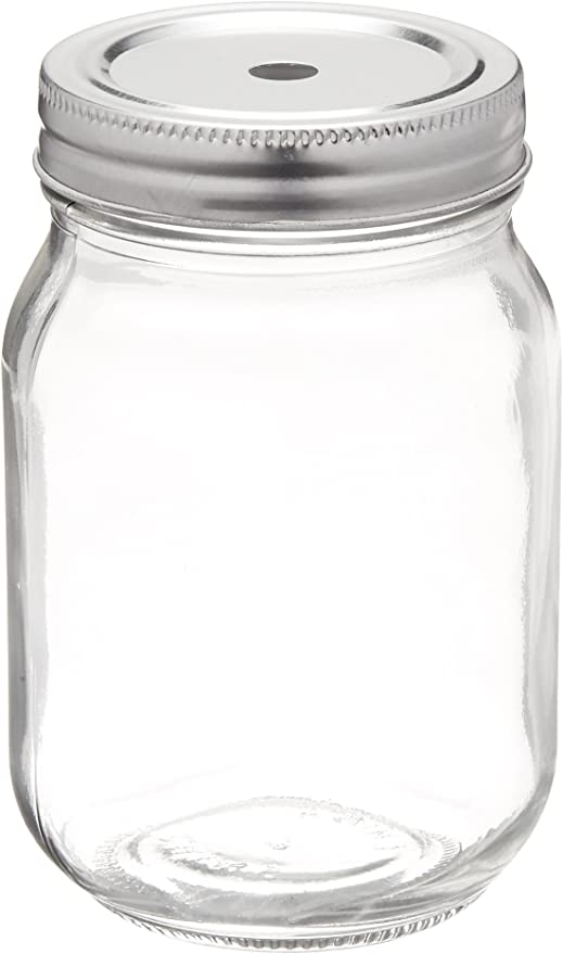 Factory Direct Craft Vintage-Inspired Mason Jar with Flower Frog Lid Perfect for Arranging and Displaying
