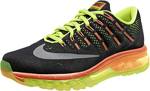 Nike Air MAX 2016 (GS), Zapatillas de Running para Hombre, Negro (Negro (Black/Reflect Silver-Volt-Total Orange), 40 EU: Amazon.es: Zapatos y complementos