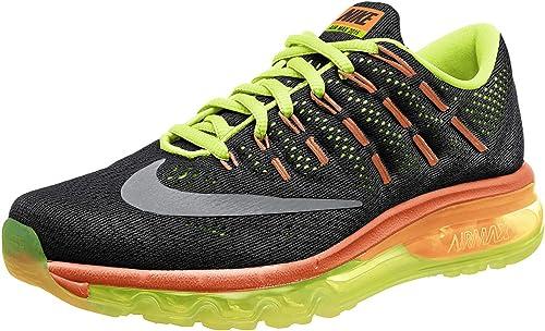 Nike Air MAX 2016 (GS), Zapatillas de Running para Hombre, Negro (Negro (Black/Reflect Silver-Volt-Total Orange), 40 EU: Amazon.es: Zapatos y complementos
