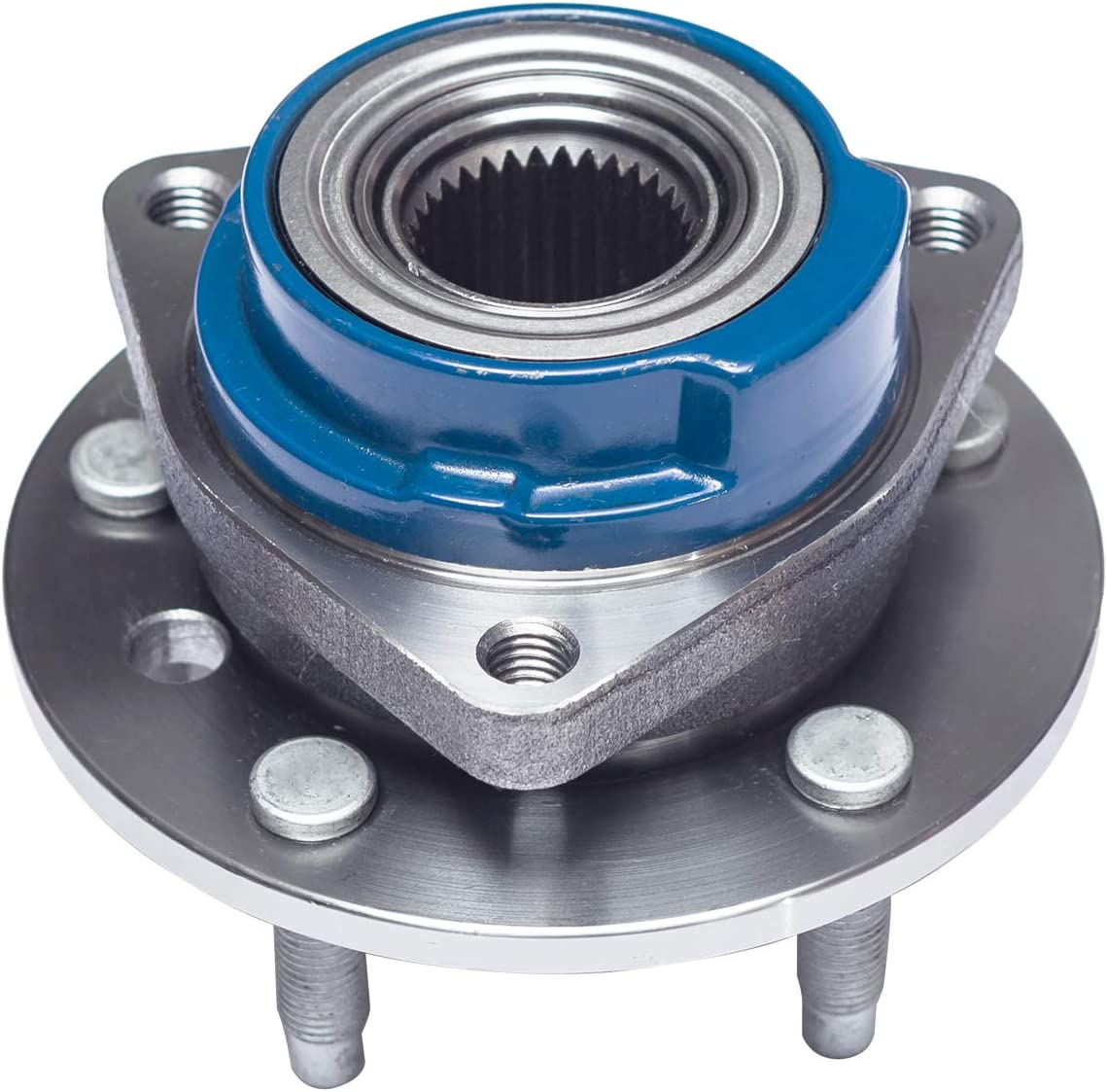 Front Wheel Bearing and Hub Assembly Compatible With Buick Century LaCrosse Regal Chevy Impala Monte Carlo Venture Pontiac Aztek Grand Prix Montana 5 Lug Non-ABS TUCAREST 513160 x2 Pair 513203