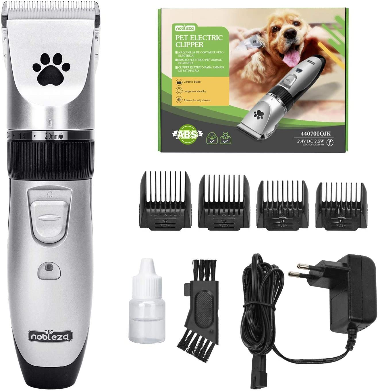 Nobleza Cortapelos para Perros Profecional Mascotas Set Mquina Cortar Pelo Sin Cable y Recargable para Mascotas Pequeas Medianas y Grande: Amazon.es: Productos para mascotas
