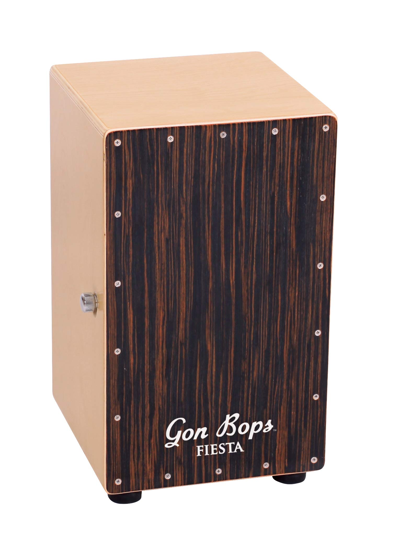 Gon Bops Fiesta Cajon with Gig Bag, Mahogany by Gon Bops