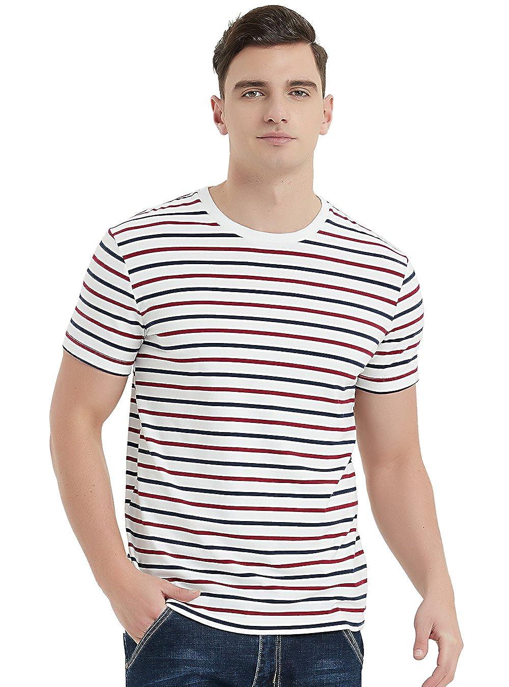 Navy & Red Stripes