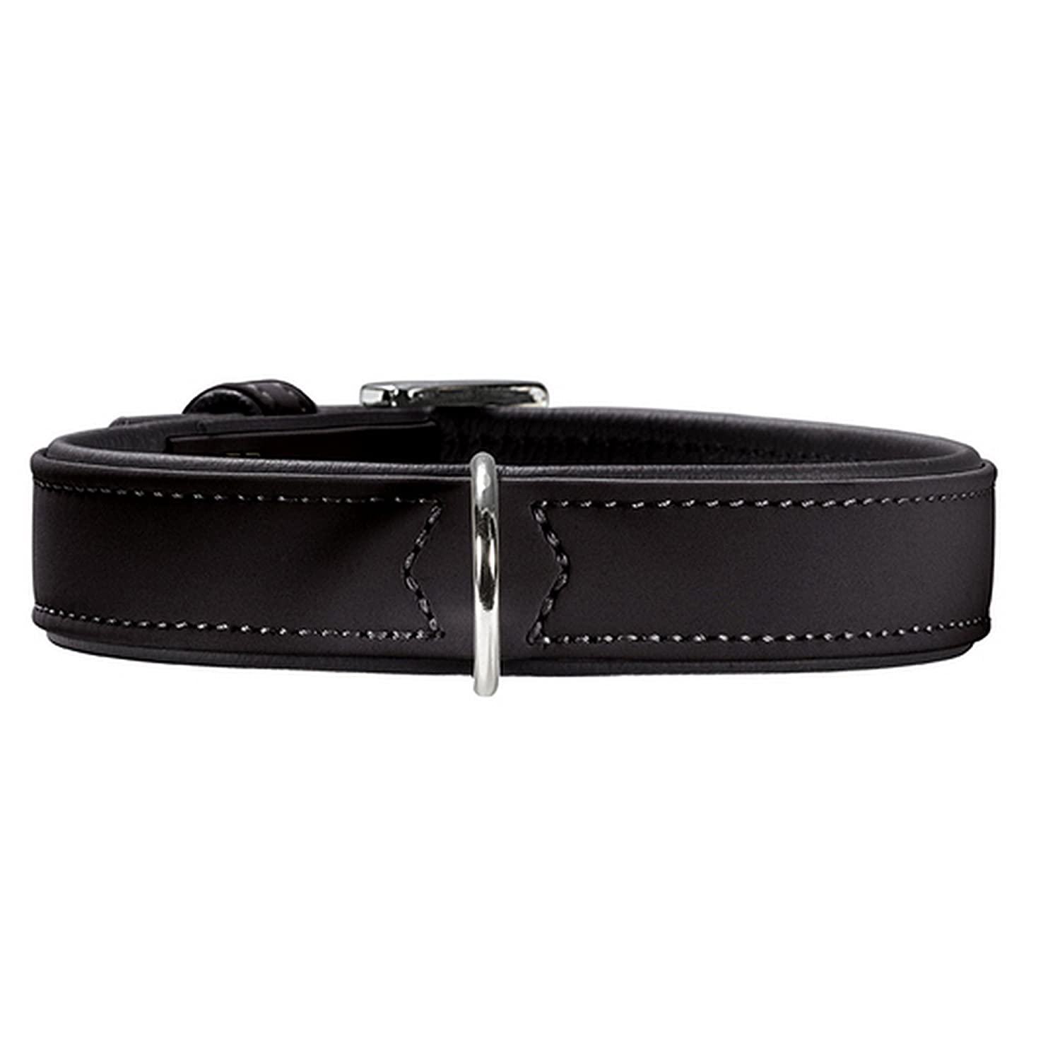 Black 50 Black 50 Hunter Softie Adjustable Leather Dog Collar (50) (Black)