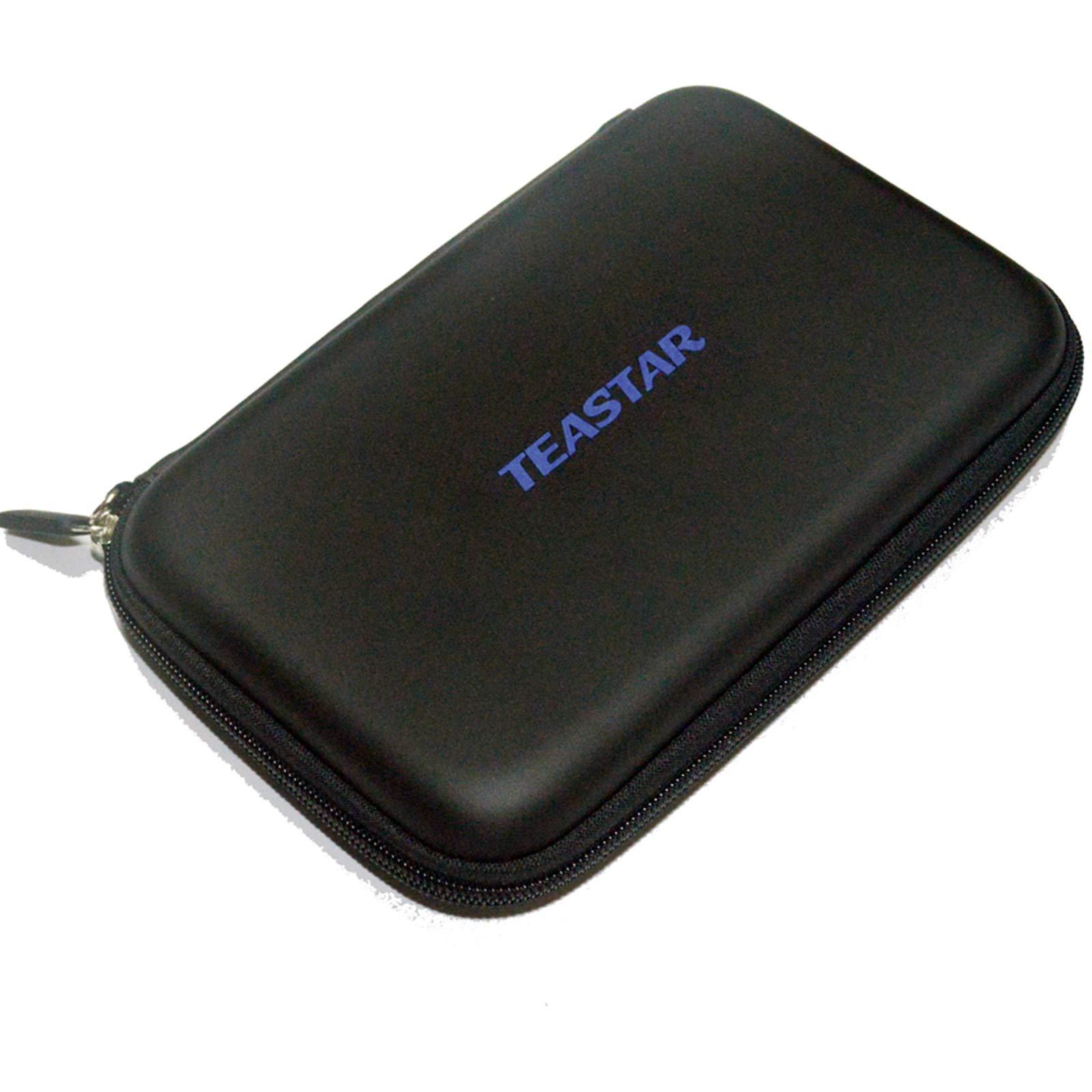 TEASTAR 7'' Inch Hard Carrying Travel GPS Case Zipper Bag Pouch Cover GPS Protective for 6'' - 7'' GPS Navigation Garmin Nuvi 65LMT 2797lmt 2798LMT 2757LM 2789 Dezl 760lmt Tomtom Magellan Roadmate Black