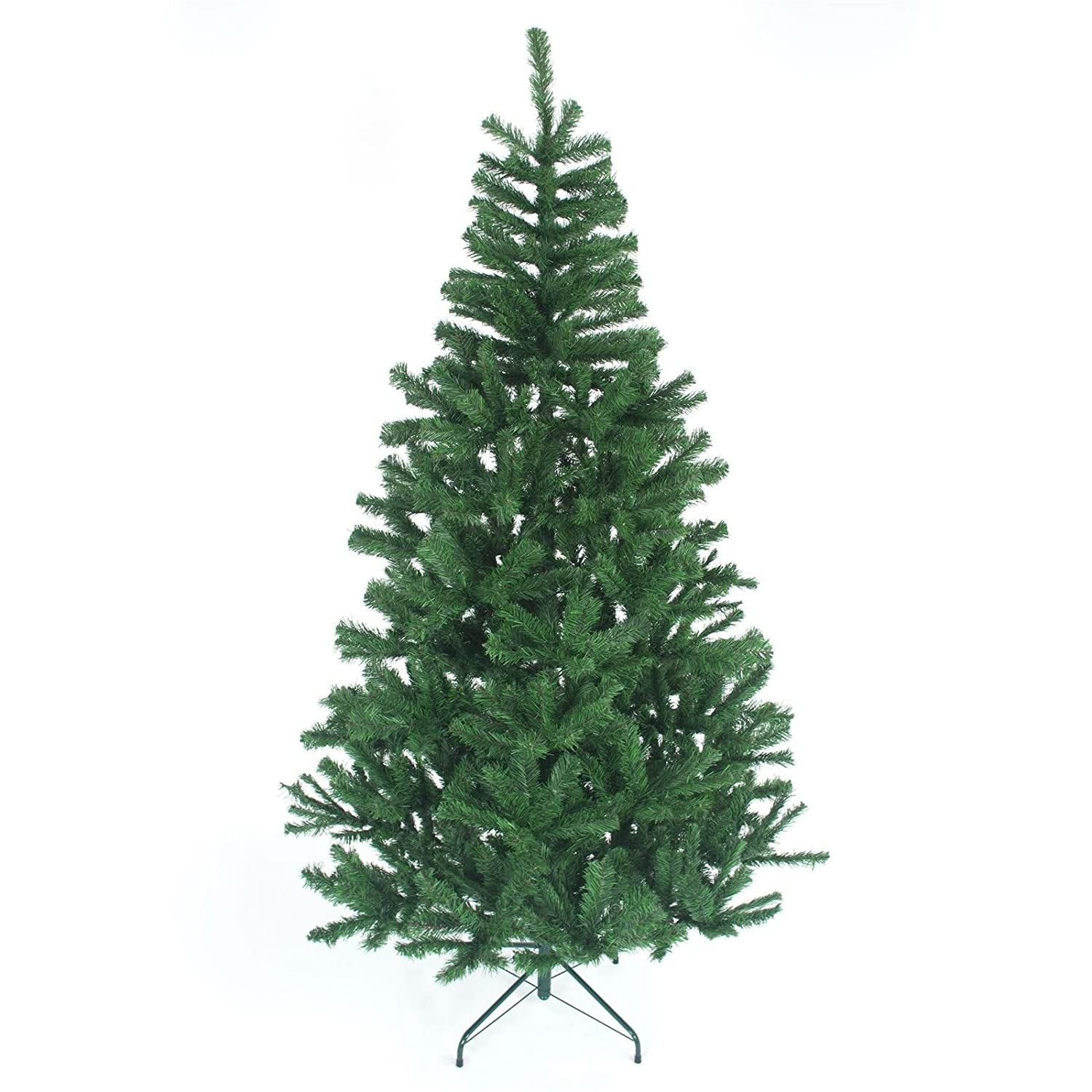 8ft-240cm Artificial Christmas Tree GREEN 1100 Imperial Pines with Metal Stand SHATCHI 3536-8FT