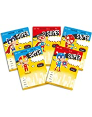 Premium Quality 30 Children's Birthday Party Invitations Yellow SuperHero Mix Pack Boys Girls Kids - No ENVELOPES